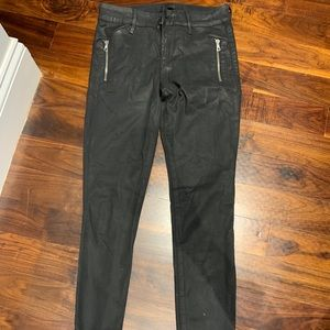 Joes Coated Skinny Ankle Jeans in Black - 26